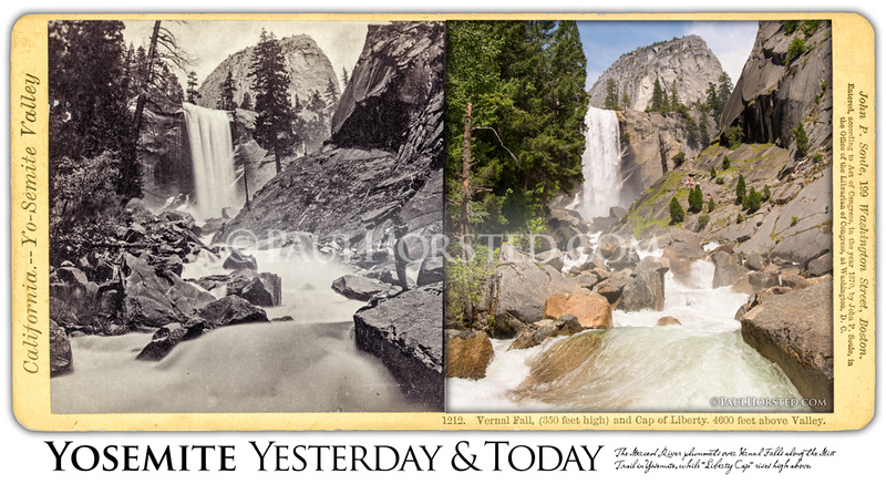 Yosemite below Vernal Fall.