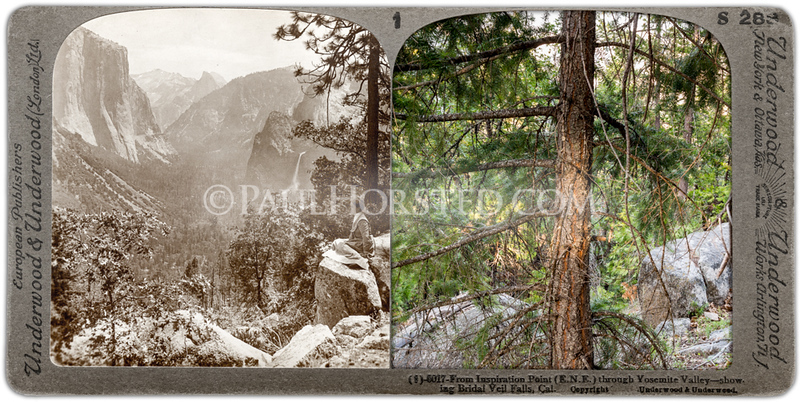 Yosemite National Park, Yosemite Valley from Inspiration Point.