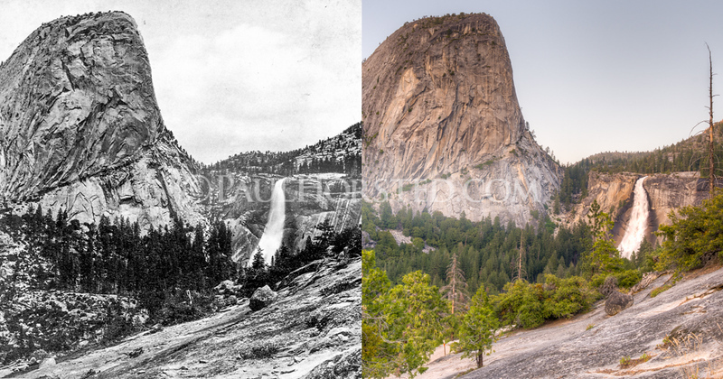 Yosemite National Park, Cap of Liberty and Nevada Fall.
