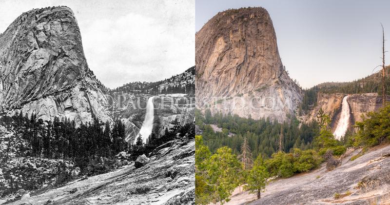 Yosemite National Park, Cap of Liberty and Nevada Fall.