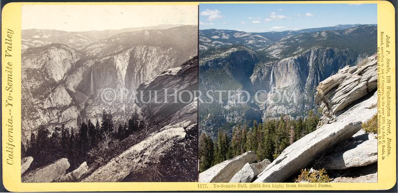 Yosemite National Park, Yosemite Falls from Sentinel Dome.