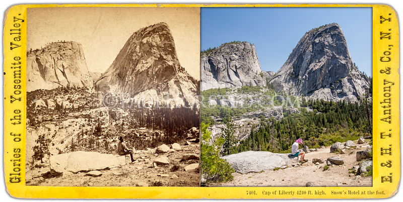 Yosemite National Park, Cap of Liberty, along Muir Trail.