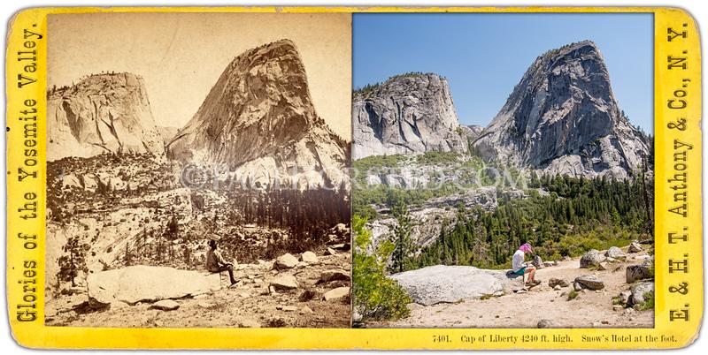 Yosemite National Park, Cap of Liberty, along Muir Trail.