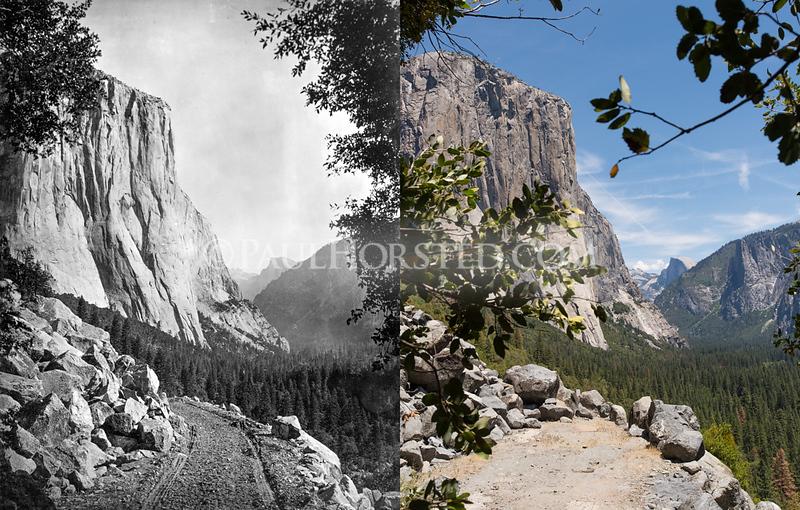 Yosemite National Park, view from Big Oak Flat Road.