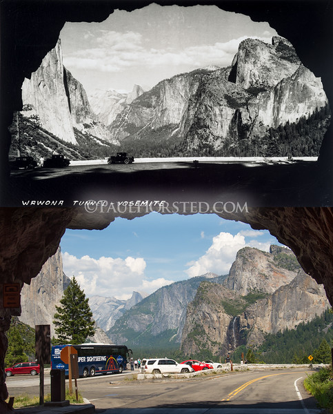 Yosemite National Park, Wawona Tunnel (view of Yosemite Valley.)
