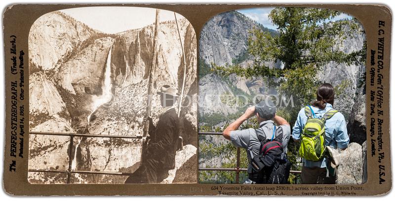 Yosemite National Park, Union Point view of Yosemite Falls.