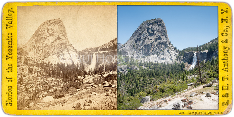 Yosemite National Park, Cap of Liberty and Nevada Fall, along Muir Trail.