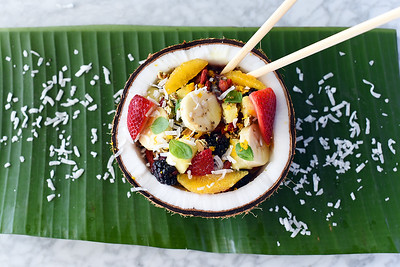 Acai Bowl served in a coconut