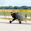 Don Knight | The Herald Bulletin<br /> A biplane taxis to a parking spot after taking a youth for a free flight during the Experimental Aircraft Association Chapter 226's Young Eagles program at the Anderson Airport on Saturday.