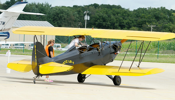 Don Knight | The Herald Bulletin<br /> Experimental Aircraft Association Chapter 226's Young Eagles program provides free plane rides to youth.