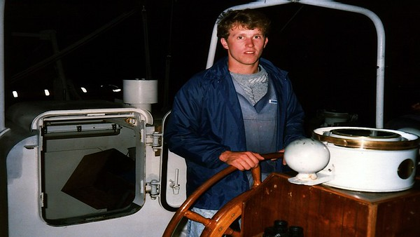 Craig Harris at the wheel