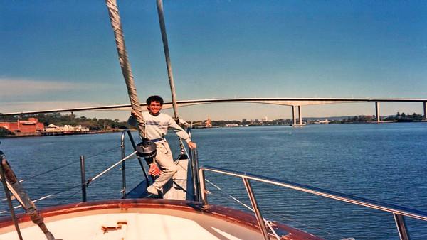 Gateway Bridge on Brisbane River.