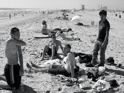 Jeff, Ron, Aaron and Chris on beach
