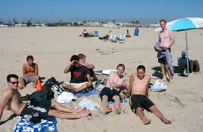 the whole gang on beach-Hunington