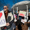 First Parish Church of Fitchburg and Wil Darcangelo and the Tribe hosted the 'Young People's Walk for Love' on the Upper Common in Fitchburg on Tuesday, February 14, 2017.  SENTINEL & ENTERPRISE / Ashley Green