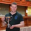 Okehampton YFC member John Maile with the Lionel Hill trophy.