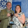 Lincs YFC members Sean Garrard and Helen Crane with the Trainers Cup.