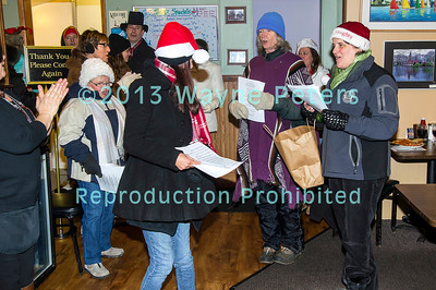 Caroling in Youngstown, NY on December 23, 2013