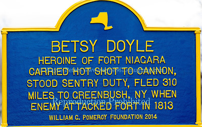 Dedication of the Betsy Doyle historic marker in Falkner Park, Youngstown, NY, on March 22, 2014
