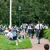 The MacKenzie Highlanders Pipes and Drums, July 5, 2013 in Falkner Park, Youngstown, NY.
