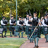 MacKenzie Highlander's Pipes & Drums in Falkner Park, Youngstown, NY on July 1, 2016.