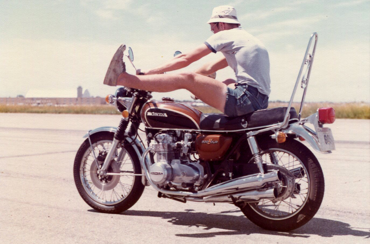 Your dad would never ride a moped. Mopeds are for people who want to ride a motorcycle, but prefer to feel the wind up their skirts. He rode a death-rocket with two wheels and pinned the throttle down until he reached hell-speed. Sure, he could have slowed down, but then he wouldn't have been living.