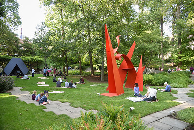BMA Members in the Sculpture Garden 9-10-17