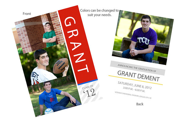 Senior Announcement Card & Magnet Samples