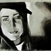 Shannon Brady<br /> Self Portrait<br /> Charcoal<br /> 2008<br /> approx 20 x 30