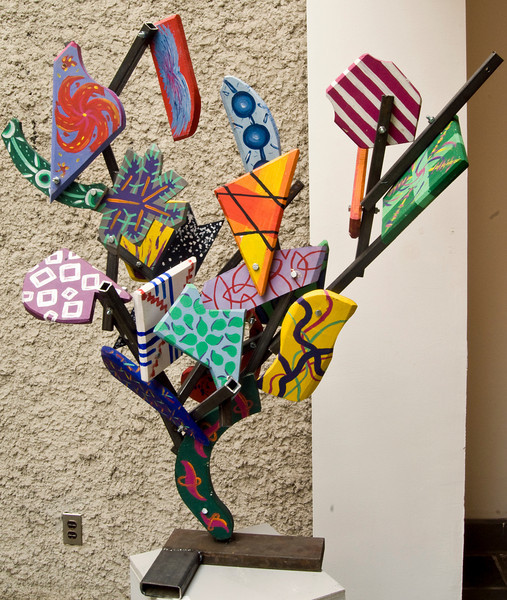 Rachel Titcomb. <br /> Colored Shards. <br /> Steel and Painted Wood. <br /> 2008.<br /> Approx. 20 x 30 x 18