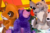 Stuffed animal prizes displayed at carnival game at May Fest. May Fest Chicago is produced by a German group known as the Mardi Gras Society in the Lincoln Square neighborhood in Chicago, Illinois. The festival promotes German culture, including food, dance, music, and traditional clothing.