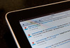 Close up of Apple iPad used for mobile Twitter account login and use