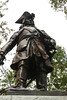 Savannah, Georgia. Historic District, Chippewa Square, close-up of General James Edward Oglethorpe monument created by created by sculptor Daniel Chester French in 1910. Oglethorpe is the city's founder.
