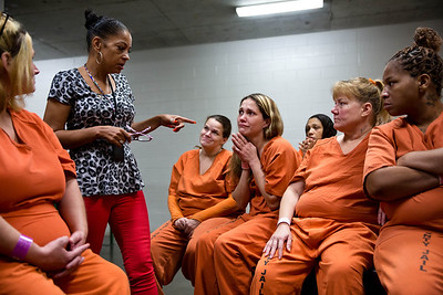 "Former prostitute and crack addict Kathryn Griffin leads the ""We've Been There Done That"" prostitute rehabilitation program for selected inmates at Harris County Jail. The Texas Tribune (Rocha:Harris County Prostitute Rehab) CREDIT: Callie Richmond for The Texas Tribune"