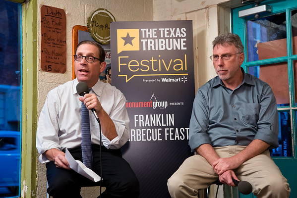 The Texas Tribune Fest kicks off with a chat with Washington Post Executive Editor Martin Baron at Franklin Barbecue.