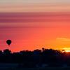 Sun And Balloon Rising