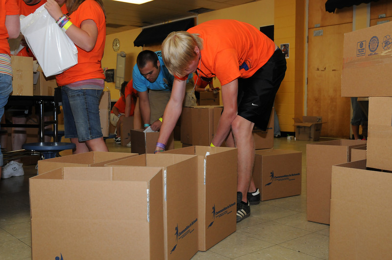 service project -  school supplies for elementary students