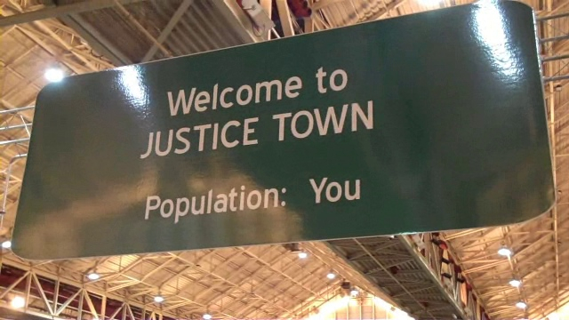 <b>Welcome to Justice Town by Zack Stoudemayer</b></br>