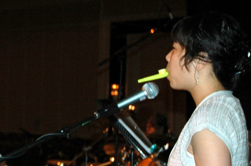 Kazoos: another talent of the MYLE house band members.
