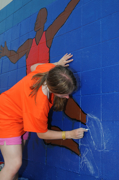 service project - painting community center near highway 610