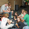 Kids in Convention center - registration