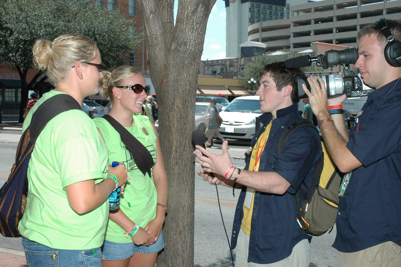 Trinity Lutheran - Miller, SD and Our Savior Lutheran churches - Faulkton, Highmore, and Redfield, SD, being interviewed