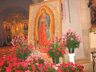 This picture of the Virgin of Guadelupe was commissioned by the San Fernando Cathedral. Make sure you stop by this historic cathedral. The geographic center of San Antonio is located under the old altar at San Fernando, a reminder that this city was built by and around the church of Christ.
