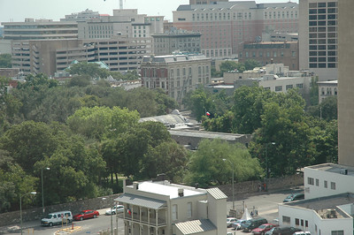 A shot of downtown San Antonio. Can you spot the Alamo?