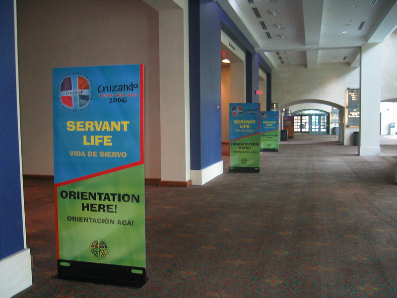 Although empty now, these halls of the Henry B. Gonzalez Convention Center will be teeming with students waiting for orientation to Servant Life, an opportunity to serve the residents of San Antonio.