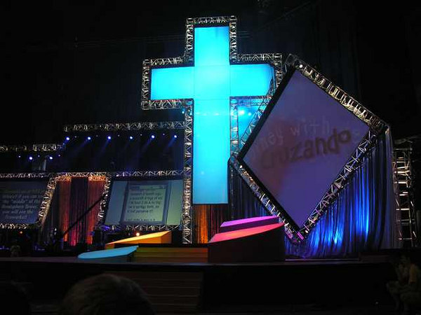 Pics from morning service...  stage