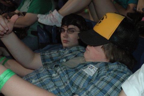 Caleb and Adam relax before ServantLife