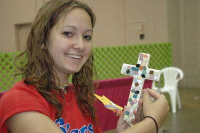Rochelle with her cross!