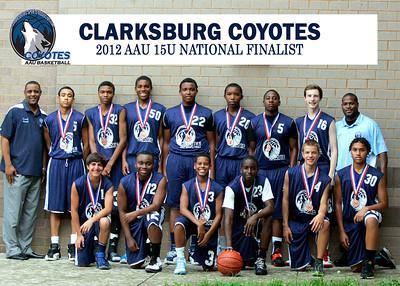 Clarksburg Coyotes AAU 15U 2012 Basketball