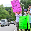 KRISTOPHER RADDER — BRATTLEBORO REFORMER<br /> Several hundred people march down Main Street in Brattleboro, Vt., during a Youth Rally AgainstPolice Brutality on Tuesday, June 2, 2020.